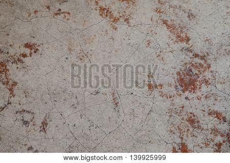 polish cracked floor in the coffee shop
