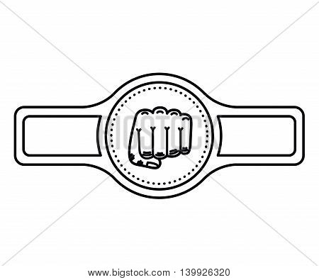 belt boxing isolated icon design, vector illustration  graphic