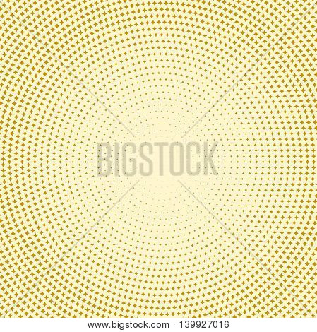 Geometric modern golden pattern. Fine ornament with dotted elements