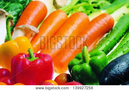 Fresh colorful vegetables