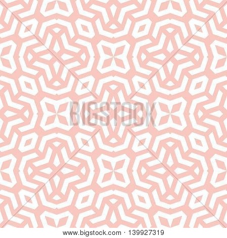 Geometric abstract pink and white background. Seamless modern pattern