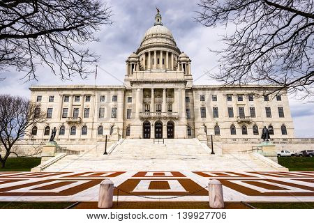 Rhode Island State House in Providence, Rhode Island.