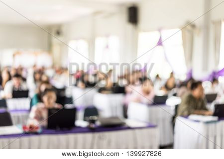 Blur image meeting room with bokeh background