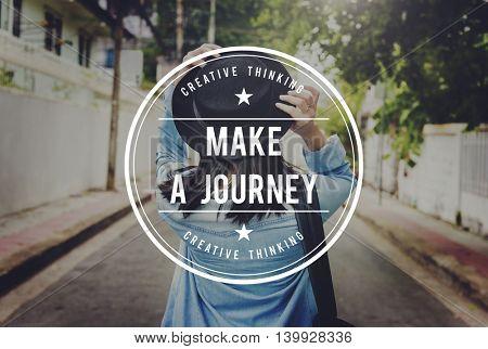 Journey Explore Transportation Trip Vacation Tour Concept