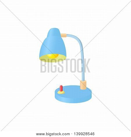 Table lamp icon in cartoon style isolated on white background. Illumination symbol