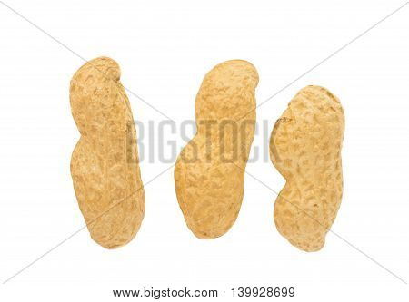 peanuts dried, seed on a white background