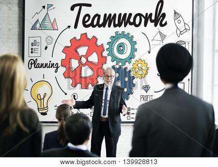 Teamwork Coordination creative Information Concept