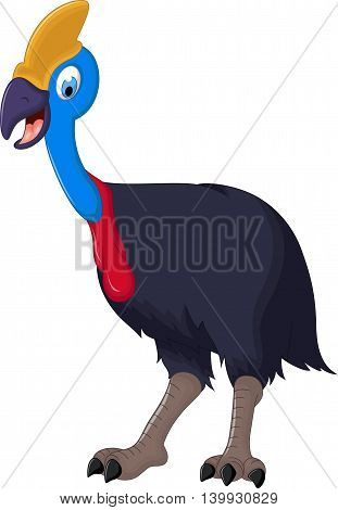 cute peacock cartoon standing for you design