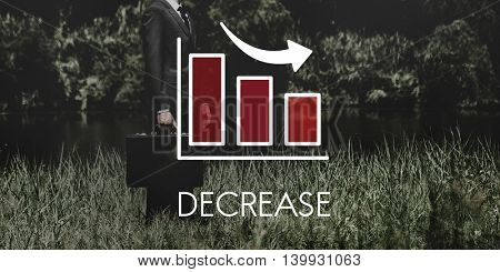 Recession Decrease Business Barchart Concept