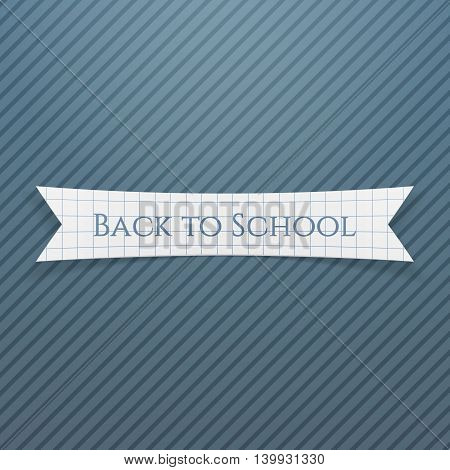 Back to School Text on realistic Badge. Vector Illustration.