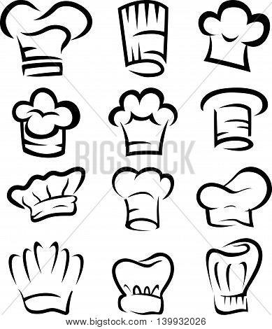 collection of chef hat cartoon for you design