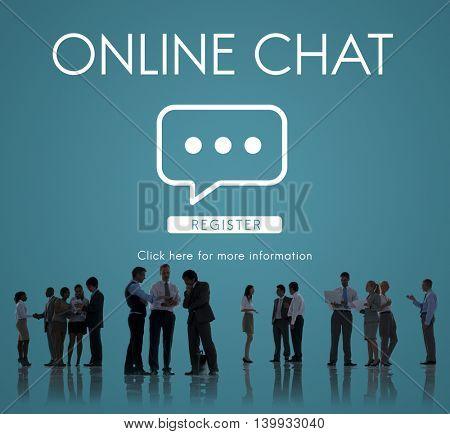 Online Chat Communication Conversation Message Concept