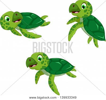 funny three turtle cartoon foe you design