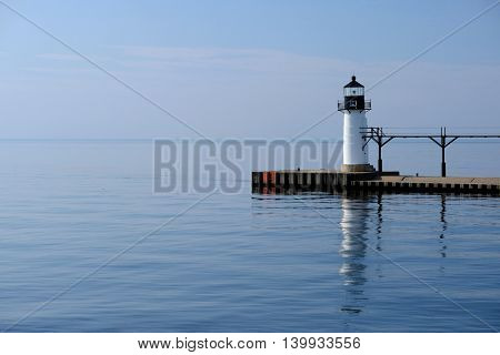 St. Joseph North Pier Outer Light, built in 1906, Lake Michigan, MI, USA