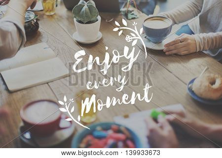 Enjoy Happiness Lifestyle Freedom Fun Concept
