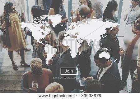 Global Worldwide International Networking Concept