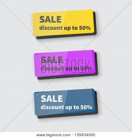 Set of Web buttons for website or app or business. Vector illustration