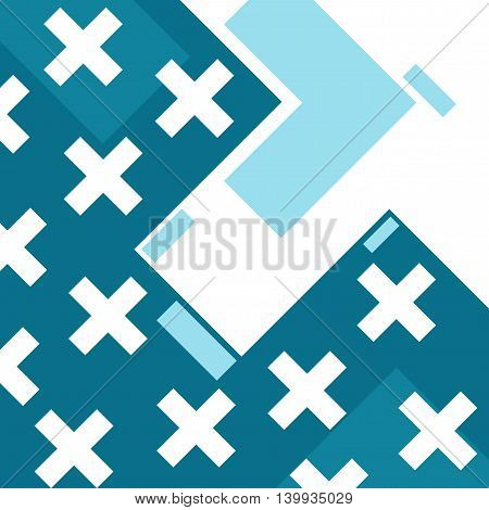 Abstract Trendy Template With Different Geometric Shapes And Textures.