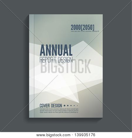 Brochure annual report. Cover for journal, book, magazine. Leaflet  Flyer template A4 size design. Layout  dj poster, booklet, postcard. Blurred background. Vector