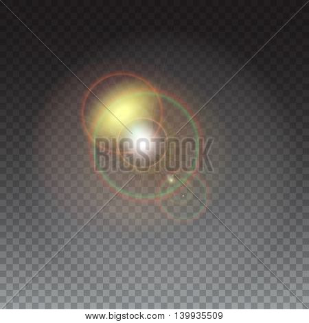 Abstract glowing ring with luminous swirling on transparent background. The energy lightning with light circles light effect.