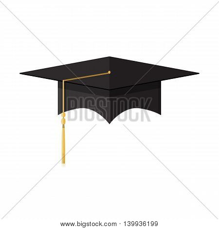 Academic graduation cap. Student hat. vector illustration in flat style isolated on white