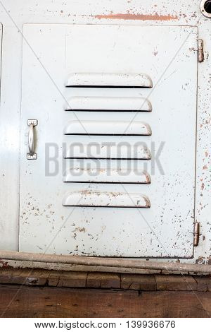 close up grunge industry metal doorrustic texture background.