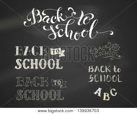 Chalk Back To School Hand-lettering Collection.