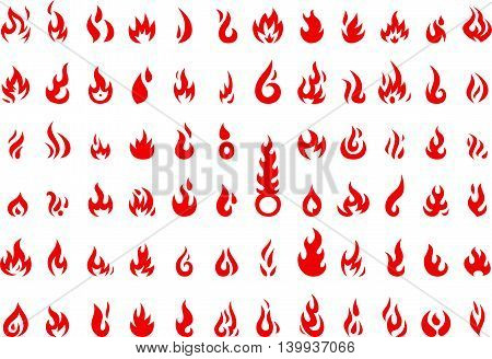 collection of fire icon for you design
