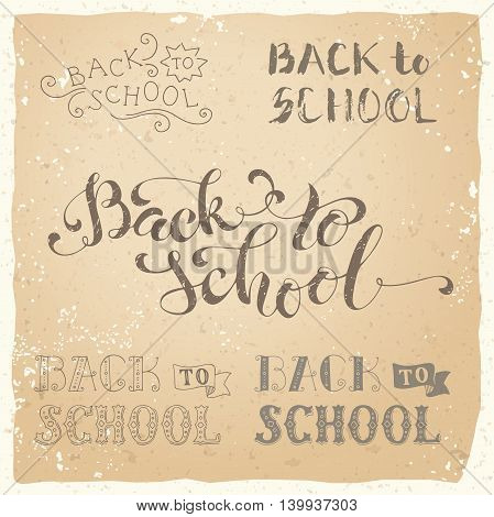 Vintage Back To School Hand-lettering Collection.