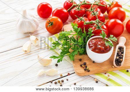 Ketchup. Tomato Sauce Salsa