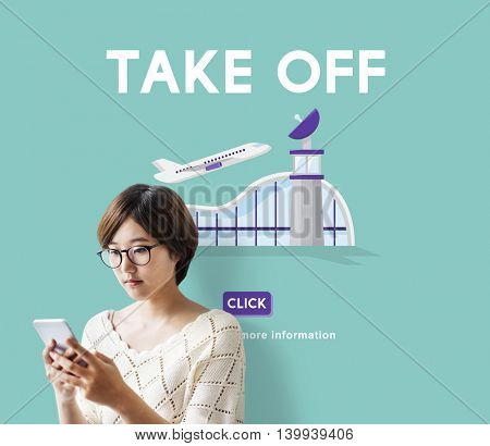 Take Off Business Trip Flights Travel Concept