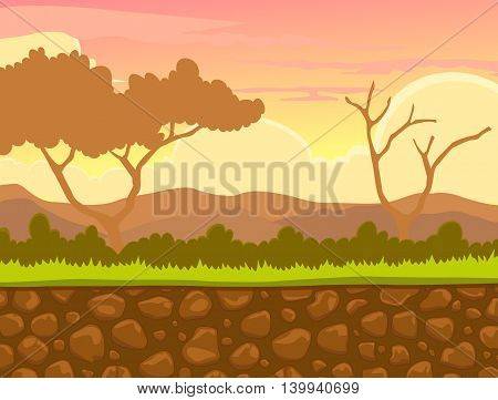 beauty afternoon view with stone and landscape background