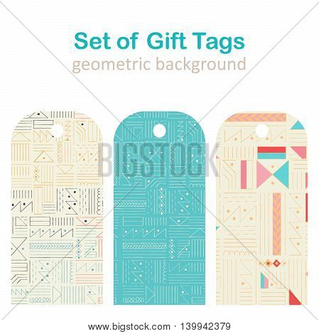Vector set gift tags stickers and labels. Template for Greeting Congratulations.