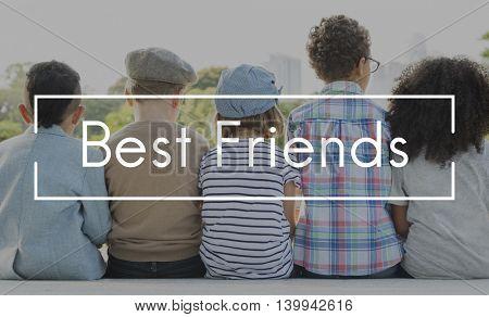 Best Friends Children Childhood Innocent Kids Concept