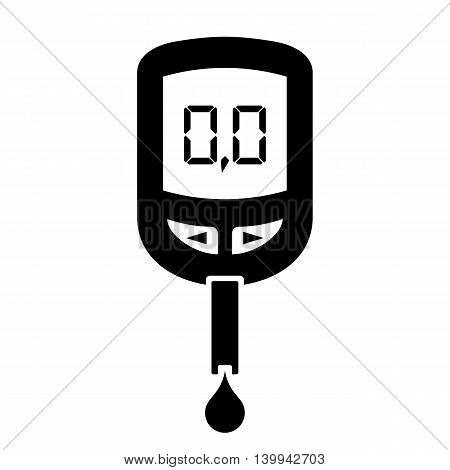 Glucose meter icon isolated on white background