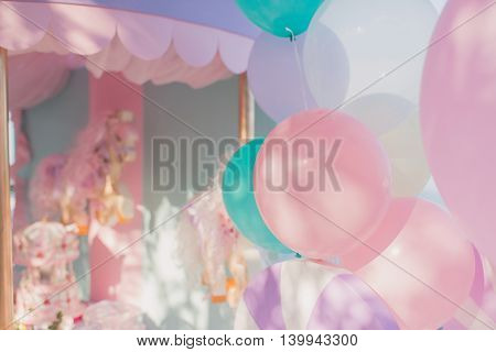 beautiful delicate decoration large birthday colored balloons