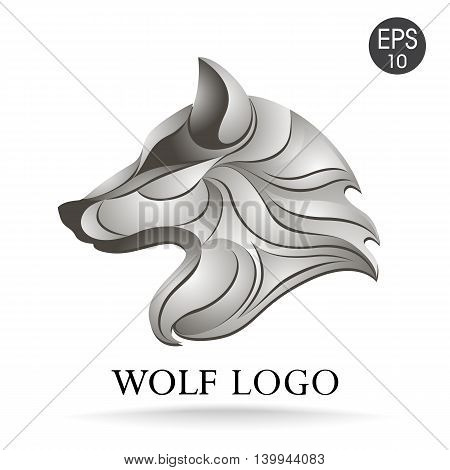 Vector wolf head logo for your design