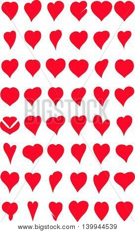 collection of hearts cartoon for you design