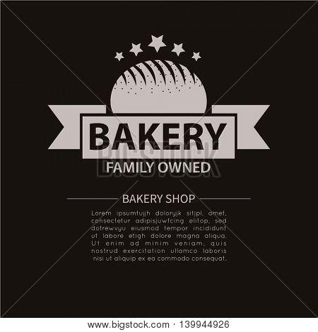 Bakery logotype. Bakery or bred shop vintage design element. Vector Illustration.