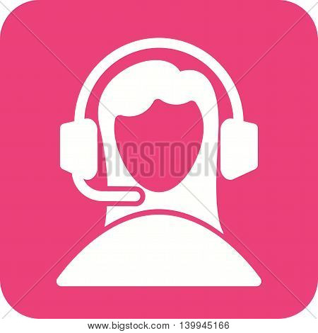 Customer, service, call icon vector image. Can also be used for customer services. Suitable for web apps, mobile apps and print media.