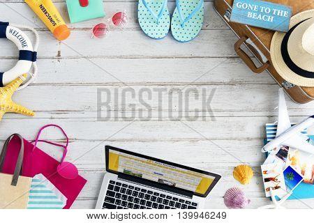 Booking Ticket Online Website Travel Journey Concept