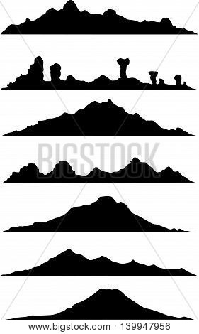 collection of mountain silhouette for you design