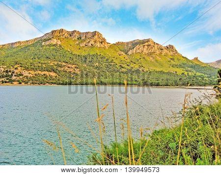 Lake Cuber Reservoir In The Serra De Tramuntana, Majorca, Spain