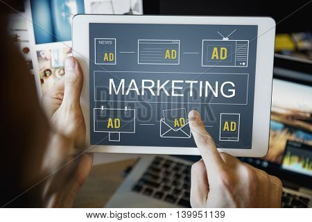 Marketing Target Goal Strategy Business Plan Concept