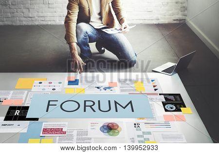 Forum Communication Information Message Concept