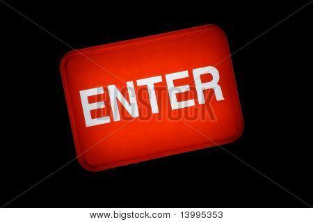 Backlit Enter Button Sign