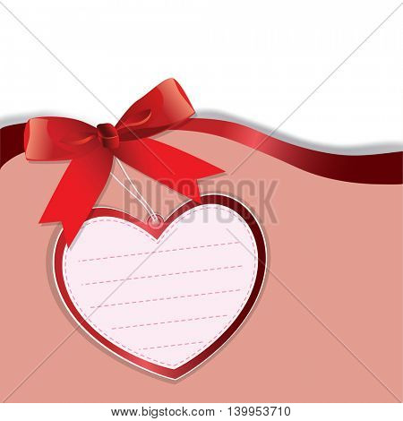 Vector decorative Background with Heart.