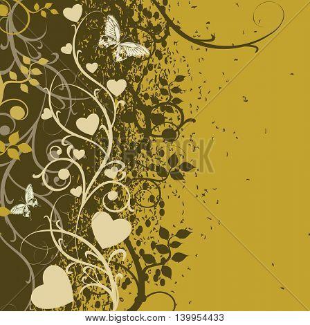 Floral spring romantic background. Vector illustration.