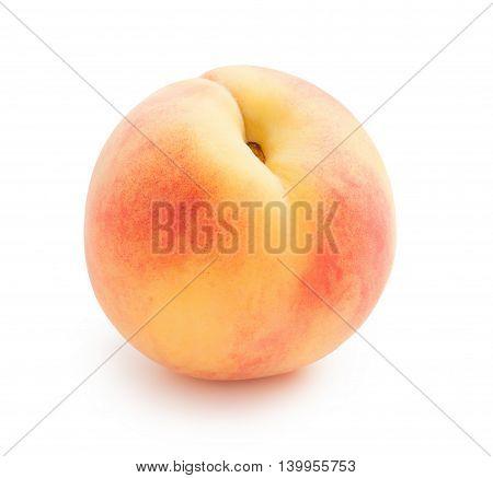 Peach. Beautiful ripe peach isolated on white background