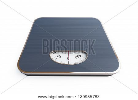 scales. 3D rendering on a white background